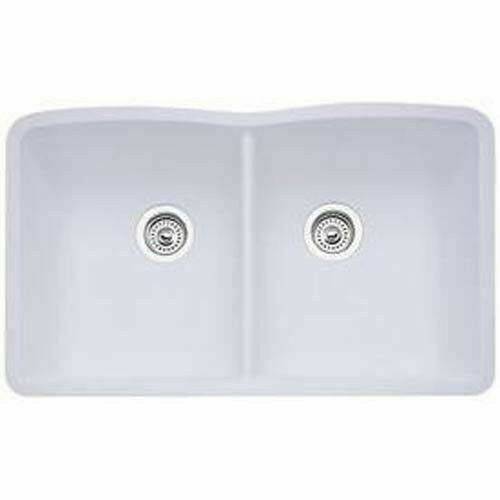 blanco 440185 diamond equal double bowl silgranit ii undermount kitchen sink in white for sale online ebay