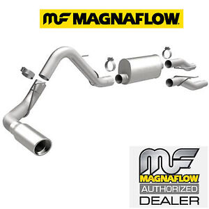details about magnaflow cat back single exhaust system 04 08 ford f150 4 6l 5 4l with muffler
