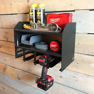 details sur perceuse chargeur de batterie outil rack pour rangement atelier organisateur noir afficher le titre d origine