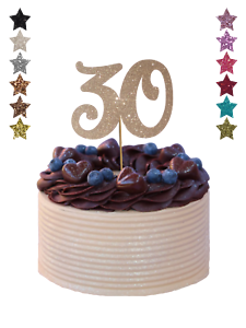 Large Number Any Age Birthday Cake Topper Decoration Glitter 18 21st 30 50 60th Ebay
