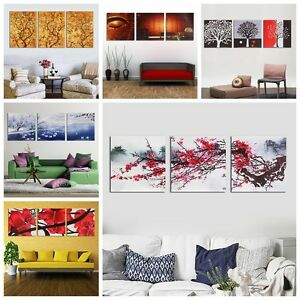 Large 3 Panels Modern Abstract Canvas Art Oil Painting Picture Print Home Decor