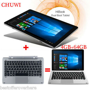 "CHUWI HiBook 2in110.1"" 4GB+64GB Tablet PC Win10+Android 5.1 Quad Core BT4.0 HDMI"