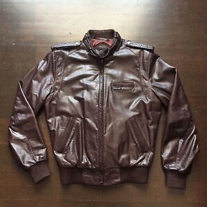 details about vintage members only europe craft cafe racer 80s leather jacket mens 40 medium