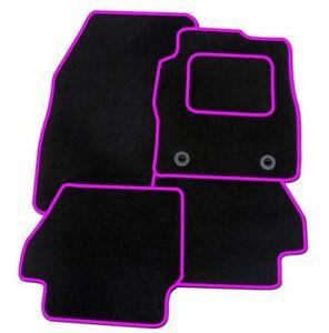 details sur citroen ds3 a partir de 2010 noir tapis de voiture sur mesure avec bordure rose afficher le titre d origine