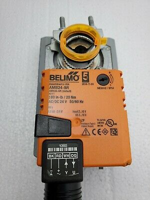 belimo damper control actuator direct coupled  24v ac/dc 180 inlb  ebay