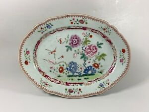 Chinese porcelain meat dish. Famille rose, Qianlong Period, c. 1740.