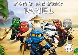 details sur personnalise lego ninjago carte anniversaire toute occasion afficher le titre d origine