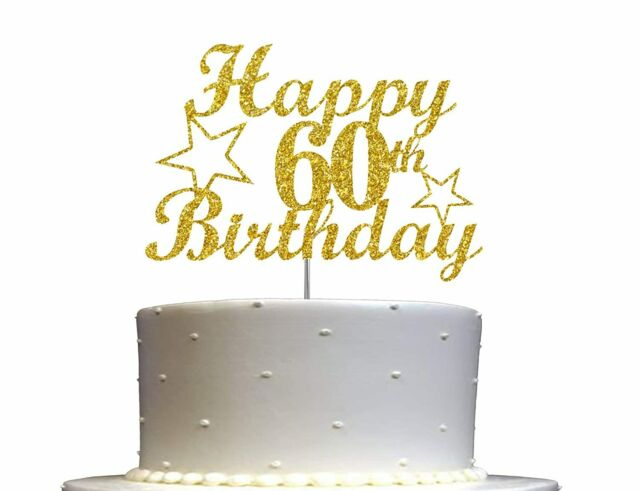 Black Acrylic 60 Fabulous Cake Topper For 60th Birthday Party Decorations For Sale Online Ebay