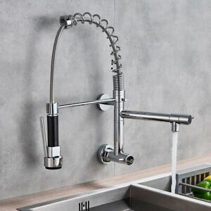 details about pull down kitchen faucets with sprayer wall mount spring kitchen sink faucet