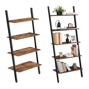 details sur etagere echelle de style industriel bibliotheque meuble de rangement 4 5 niveaux
