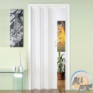 Porte Accordeon En Pvc Extensible Sur Mesure Salle De Bain 88 5x214cm Pliante Ebay