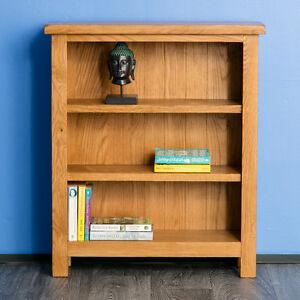 details sur surrey oak petite bibliotheque rustique bois massif faible 3 etagere ecran assemble afficher le titre d origine