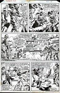 1977 MARVEL COMICS HUMAN FLY #4 ORIGINAL COMIC BOOK ART PAGE LEE ELIAS ARTWORK