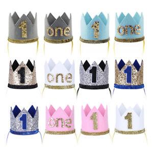 Infant Baby Boy Girl First Birthday Crown Hair Accessory Cake Smash Hat Headband Ebay