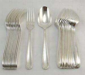 details sur christofle modele marot 12 couverts de table 12 fourchettes 12 cuilleres