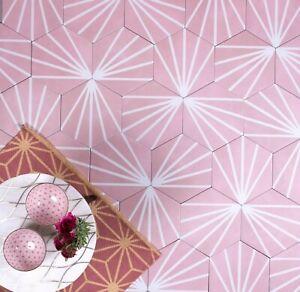 details about tile sample dandelion pink decor hexagon porcelain wall floor tiles