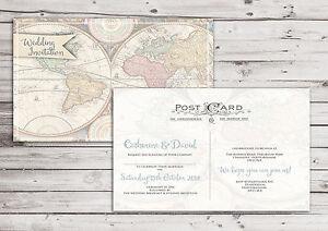 Postcard Wedding Invitations Packs