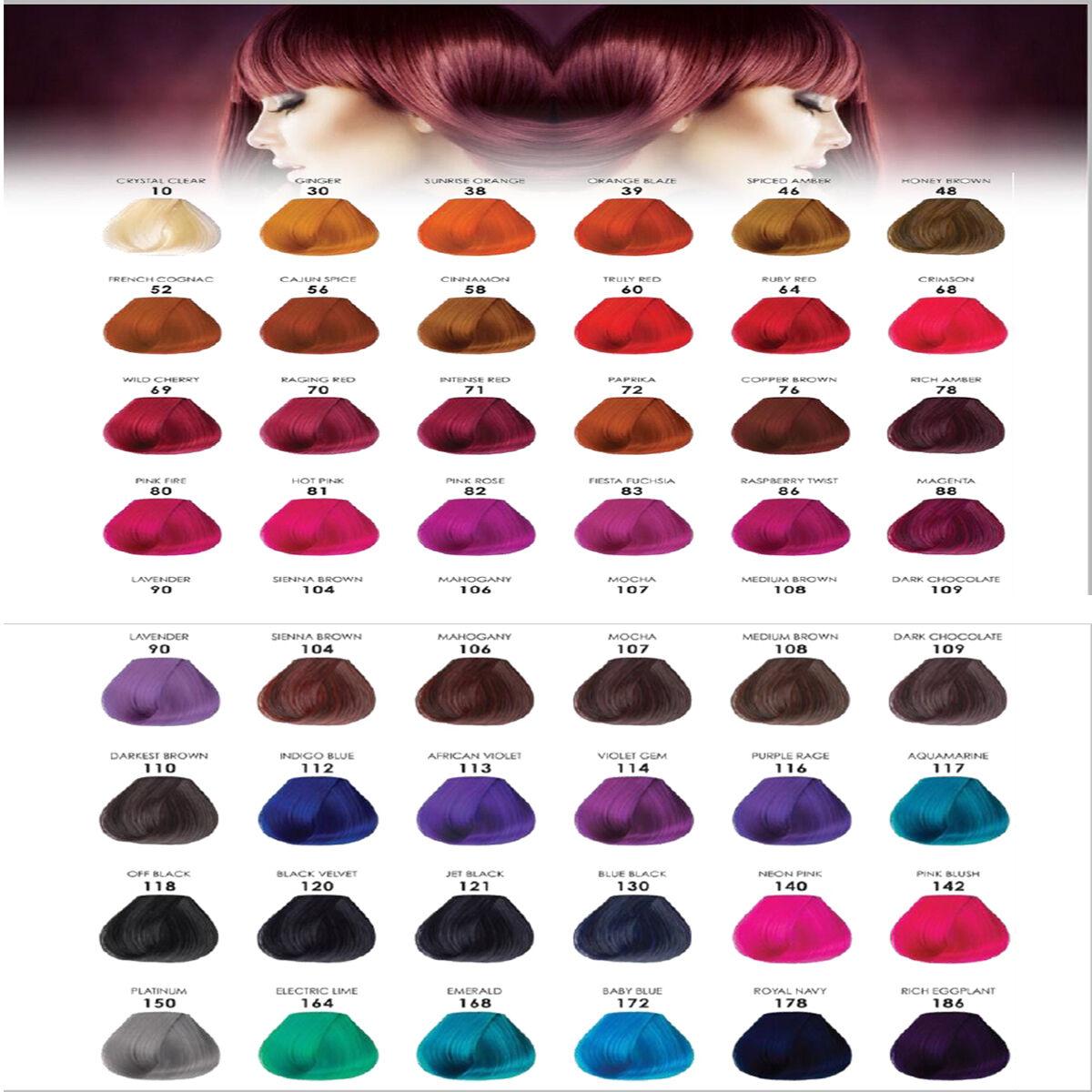 Adore Semi Permanent Hair Dye Colour Ammonia Peroxide Alcohol Free 118 Ml
