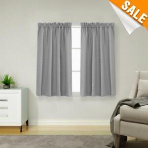 details sur lazzzy gris court rideaux pour gray petite fenetre 45 in environ 114 30 cm hydrofuge afficher le titre d origine