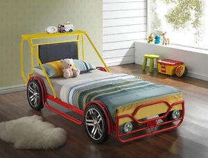 Image Is Loading New Kids Single 3ft Childrens Car Bed Frame