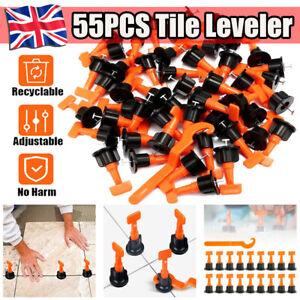 details about 55pcs tile leveling system kits leveler tile spacer wall floor tool construction