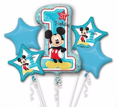 Baby Mickey Mouse First Birthday Balloon Bouquet Party Decoration Supplies 1st Ebay