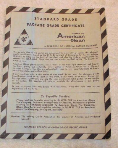 ceramic tile green avocado scored by american olean 4 1 4 nos 1 pc vintage floor wall tiles flooring tiles