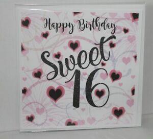 Happy Birthday Card Sweet 16 Birthday Card Handmade Card Blank Card Friends Ebay