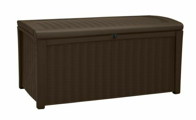 Keter 211359 Borneo Plastic Deck Storage Box Brown For Sale Online Ebay