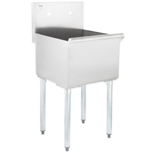 details about 18 x 21 x 14 stainless steel commercial utility sink prep wash laundry tub
