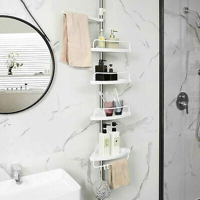 etagere armoire meuble d angle rangement support pour salle de bain reglable ebay