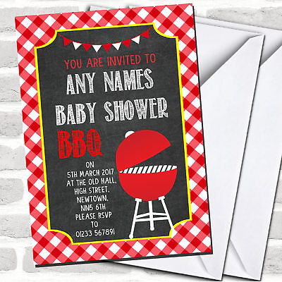 Red Bbq Invitations Baby Shower Ebay