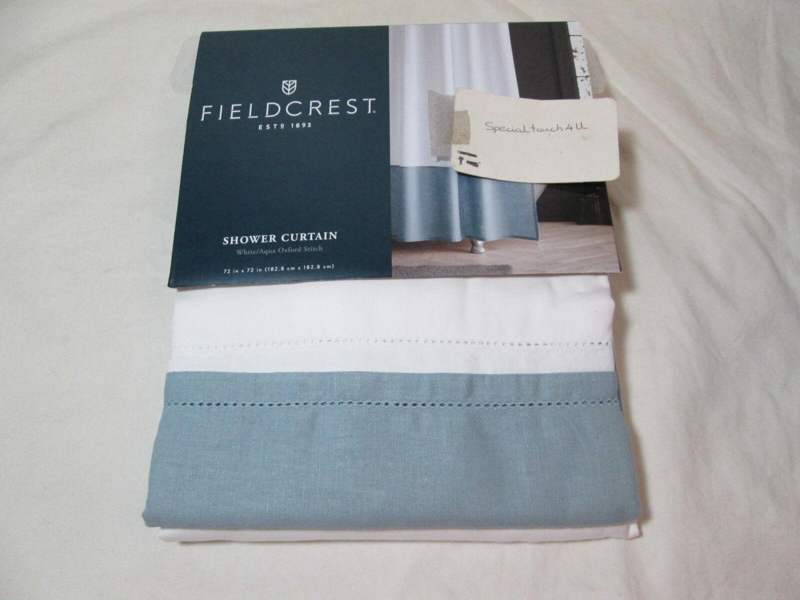 fieldcrest shower curtain solid white
