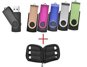 details sur lot de 6 cle usb 16go 2 0 flash drive stockage 16 giga plus pochette rangement