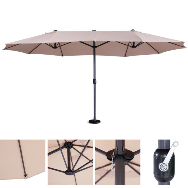 15 ft double sided patio umbrella