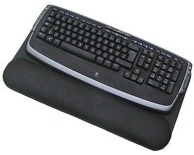 leder tastatur unterlage schwarz mit