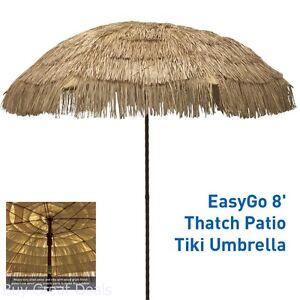 details about outdoor patio umbrella tiki hut hawaiian tropical palapa raffia natural canopy