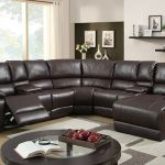 Arans Rustic Brown Bonded Leather Sectional Sofa For Sale Online Ebay