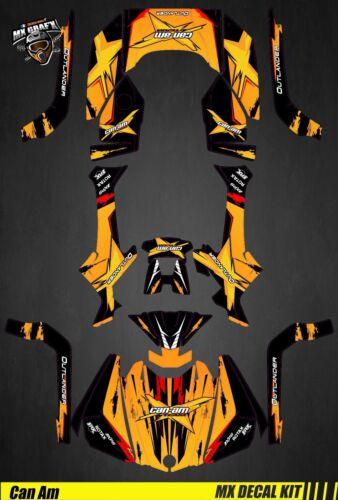 autocollants kit deco quad pour yellow scratch atv decal kit for can am outlander g2 wci