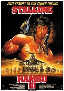 Rambo III (1988) Sylvester Stallone movie poster print 2 ...