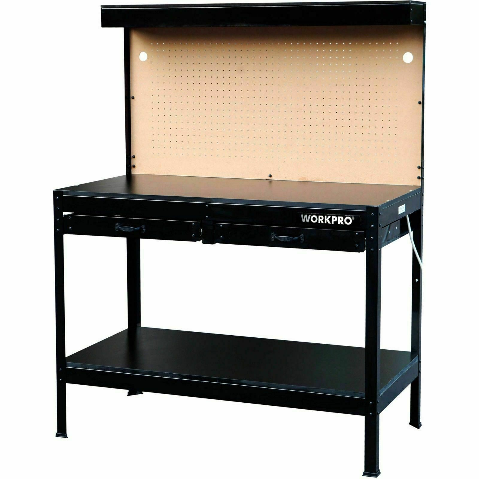 Workpro Multi Purpose Workbench With Work Light Steel Frame Tool Storage Garage
