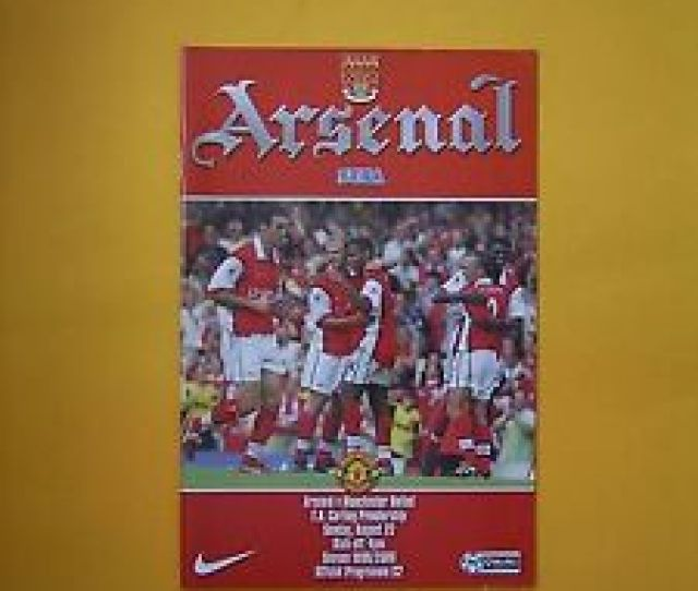 Image Is Loading Fa Carling Premiership Arsenal V Manchester United 22nd