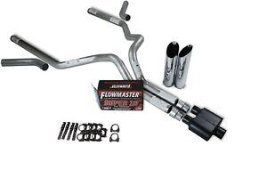 details about dodge ram 1500 94 03 3 dual exhaust kits flowmaster super 10 slash tip corner e