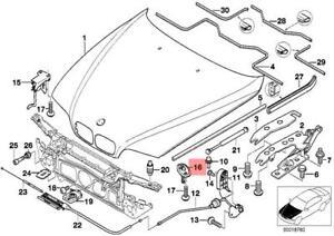 Genuine Bmw E39 Sedan Wagon Hood Lock Oem