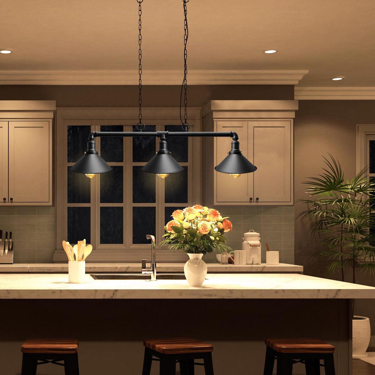 Industrial Steam Punk 3 Way Over Table Light Indoor Ceiling Hanging Light M0053 5055875573161 Ebay