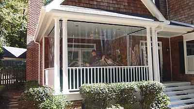 24 mil clear tarp smooth glass vinyl patio curtains insulation choose size ebay