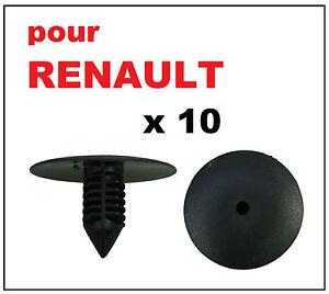 details sur 10 x clips agrafe plastique renault spruce passage de roues rivets plastiques