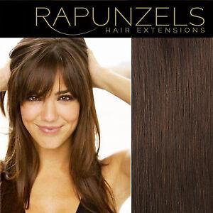 16 20 24 medium brown 4 remy human hair extensions weave weft braid clip in ebay