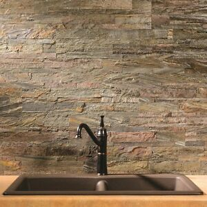 details about aspect peel and stick stone backsplash approx 15 sq ft kit