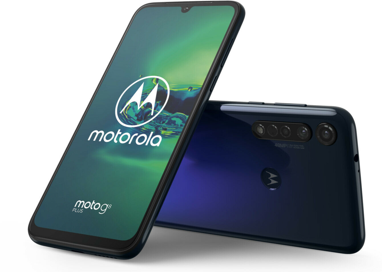 MOTOROLA Moto g8 Plus 6,3 Zoll 64 GB 48 MP Triple-Kamera cosmic blue blau B-WARE